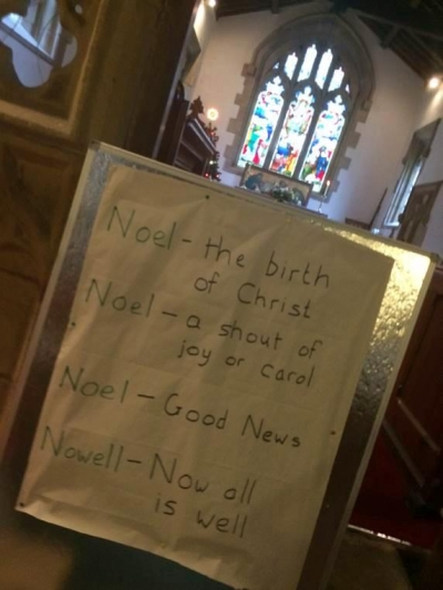 The meaning of Noel in St John's, Chelmorton, Christmas Day