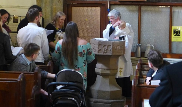 Baptism in St Johns Chelmorton, Molly Cooper-Arden Easter Sunday 2018