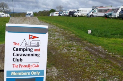 Steamy campers dry in Chelmorton rain-storm weekend bonfire meet for Camping and Caravan Club