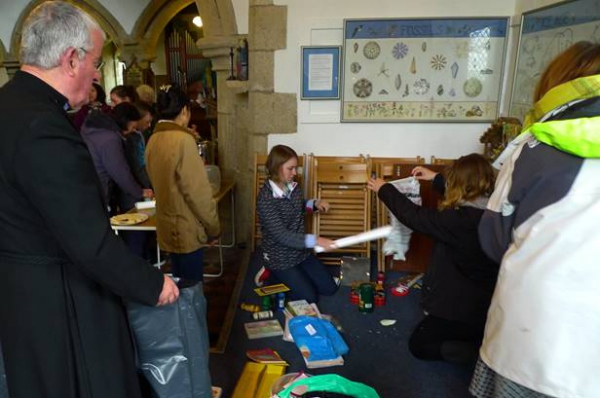 Big turnout of children for April Spring Clean in Church